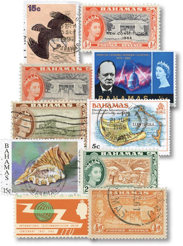 Bahamas 10 Different Stamps