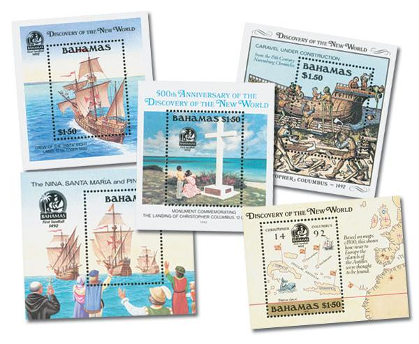Bahamas Columbian S/S Set of 5 Mint