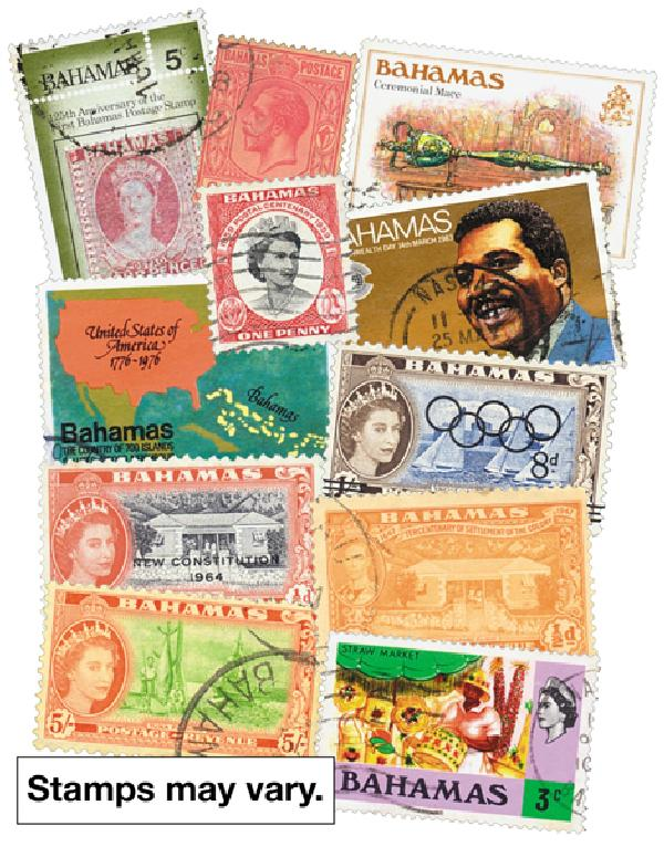 Bahamas, 100 stamps