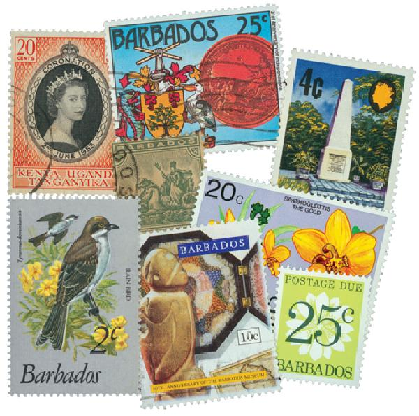 Barbados, 75 stamps