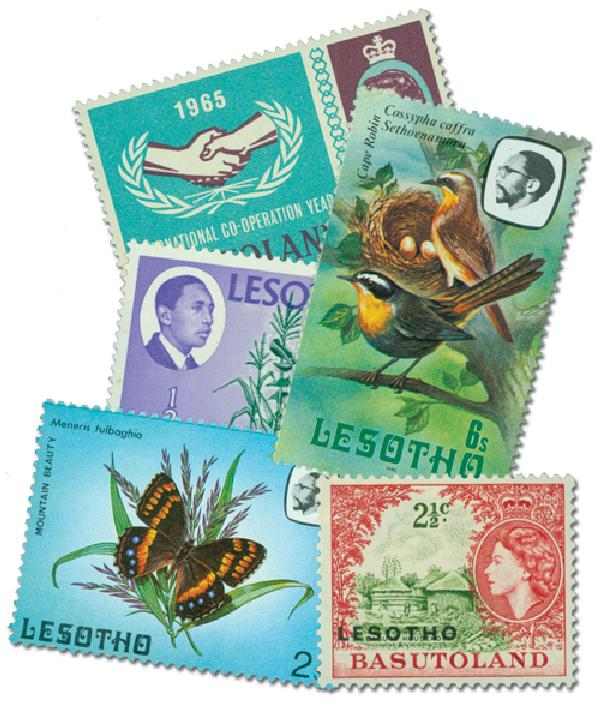 Basutoland & Lesotho, 75 stamps