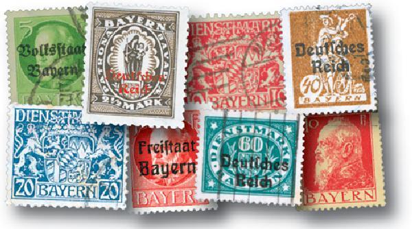 Bavaria, 50 stamps