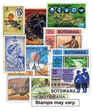 Bechuanaland & Botswana, 200 stamps