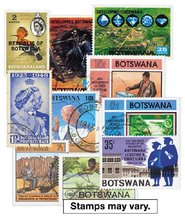 Bechuanaland & Botswana, set of 250