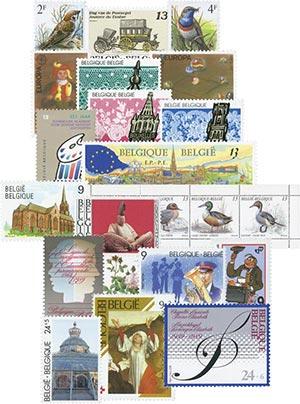 1989 Belgium Year Set, Mint, Set of 37 Stamps