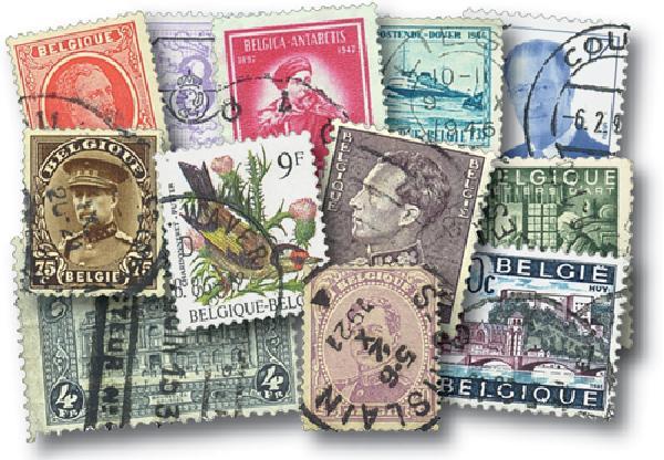Belgium, 100 stamps, Large