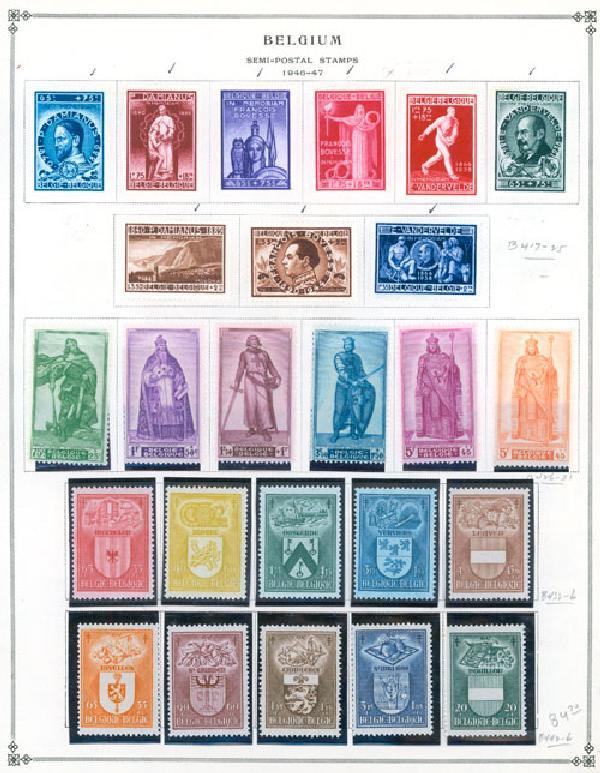 1946-80 Belgium (Semipostals)