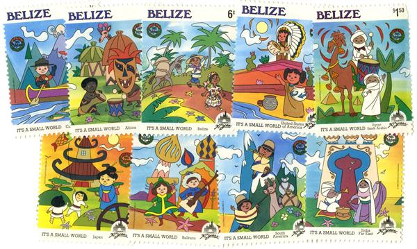 Belize 1985 Christmas, 9 Mint Stamps