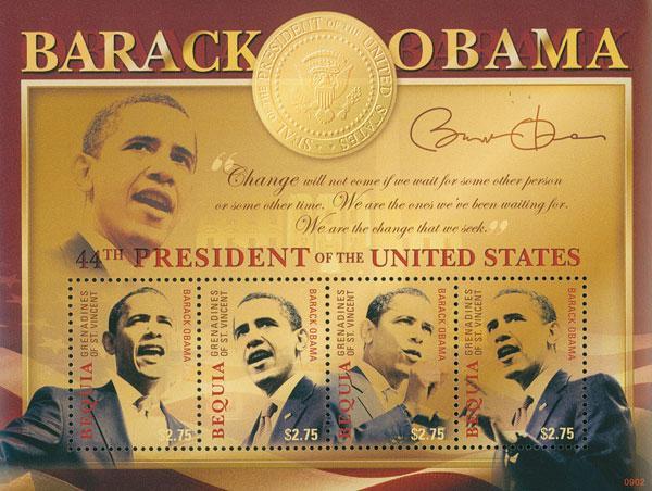 2009 Bequia President Barack Obama 4v M