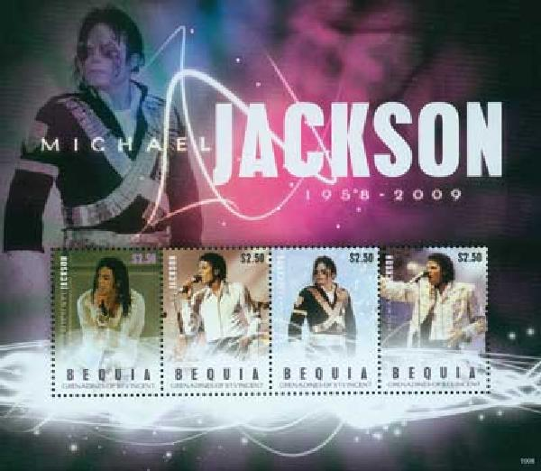 2010 Bequia Michael Jackson 4v Mint