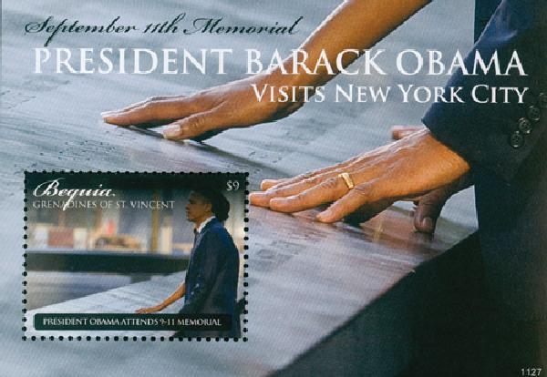 2011 Bequia Barack Obama s/s Mint