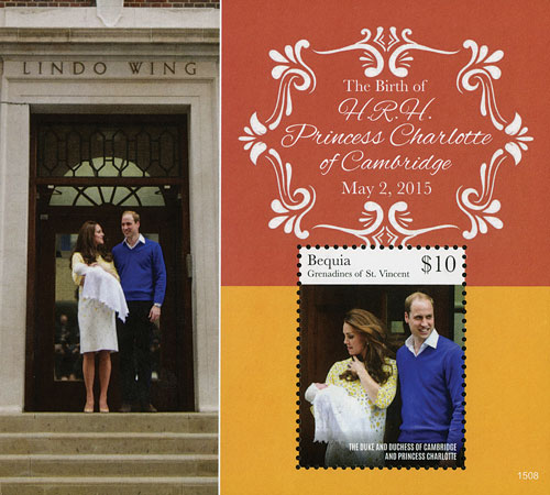 2015 $10 The Duke and Duchess of Cambridge with Princess Charlotte