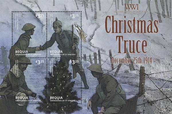 2014 $3.25 World War I Christmas Truce; Sheet of 4