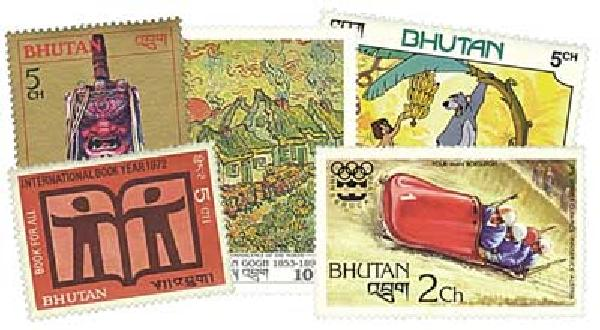 Bhutan, 100 Stamps