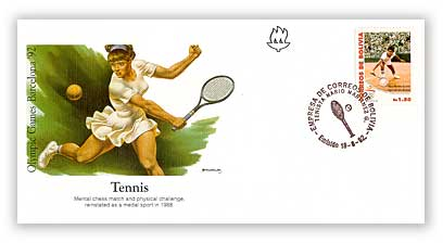1992 Bolivia Tennis First Day Cover