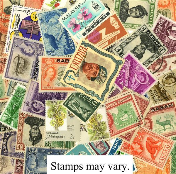 Island of Borneo, 50 stamps