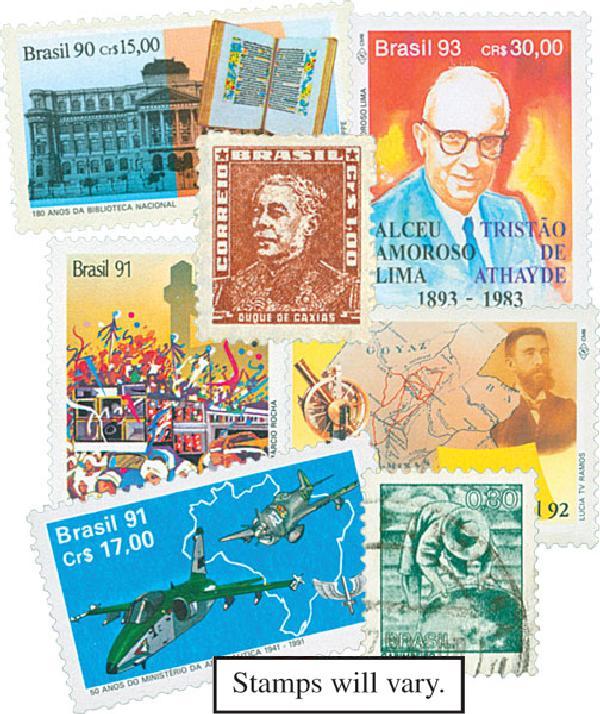 100 Brazil Stamps