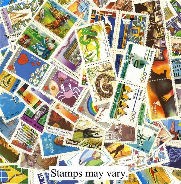 Brazil 100 Commemorative Stamps