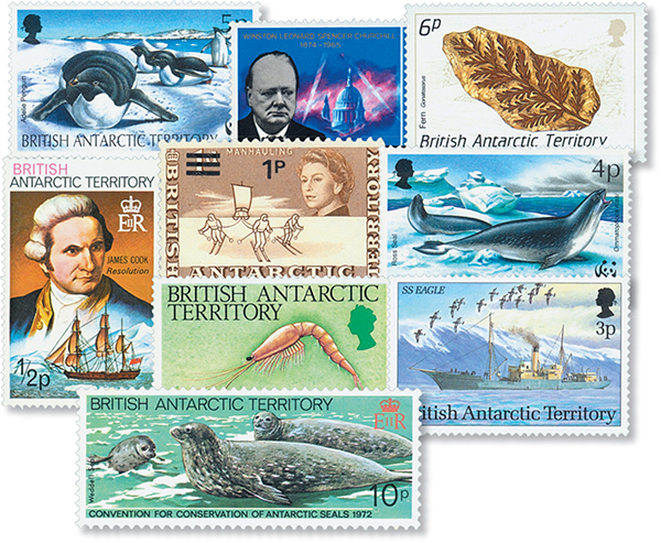 Br. Antarctic Territory, 25 stamps