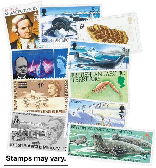 Br. Antarctic Territory, 50 stamps