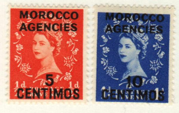 1954-55 British Offices - Morocco