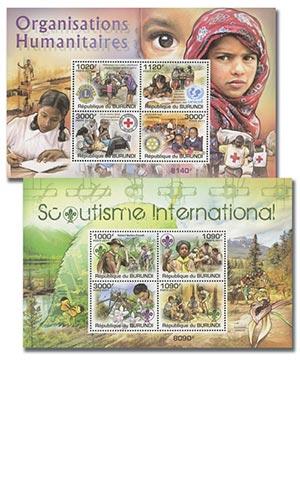 2011 Scouting & Humanitarianism, Mint, Set of 26 Sheets, Burundi