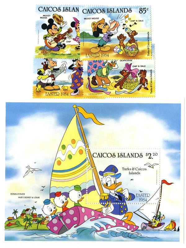 Caicos Islands 1984 Easter