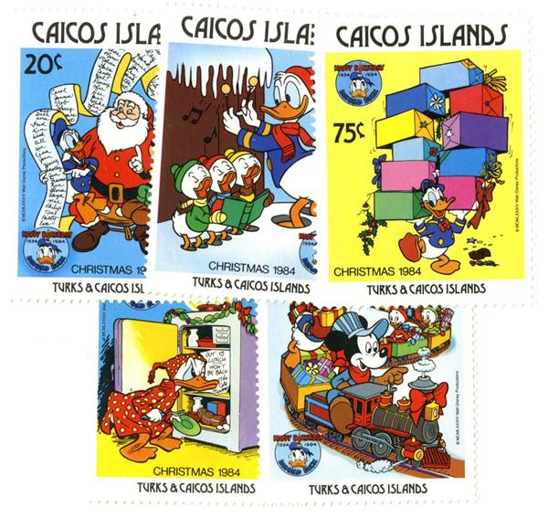 Caicos Islands 1984 Christmas, 5 Stamps