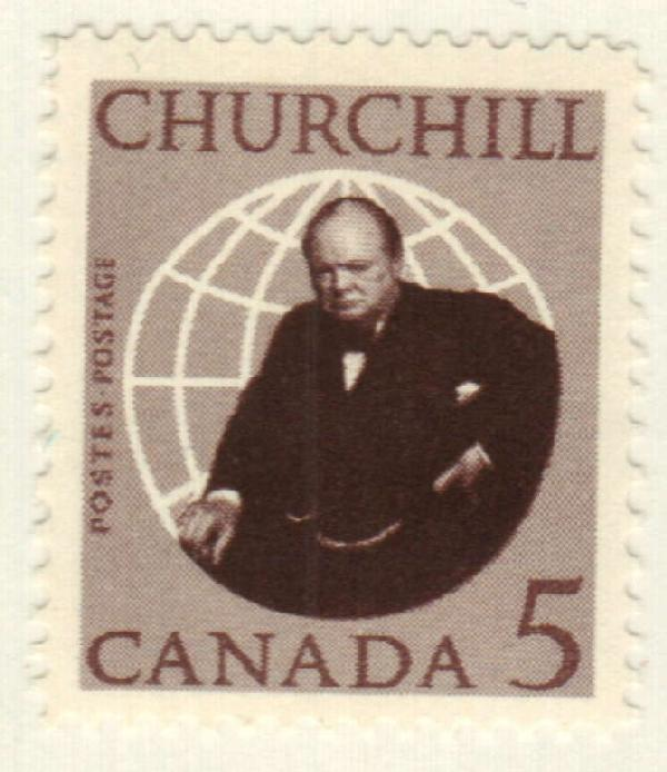 Canada #440 – Churchill was fascinated by planes and took flying lessons, though he never earned his pilot's license.