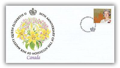 2002 Golden Jubilee Canada FDC