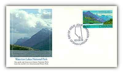 1982 $1.50 Waterton Lakes National Park
