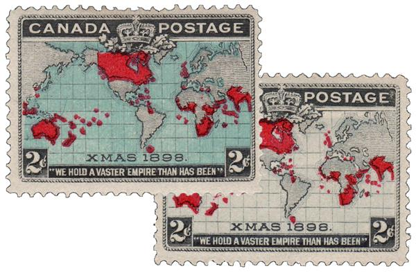 1898 Canada World's First Christmas Stamp