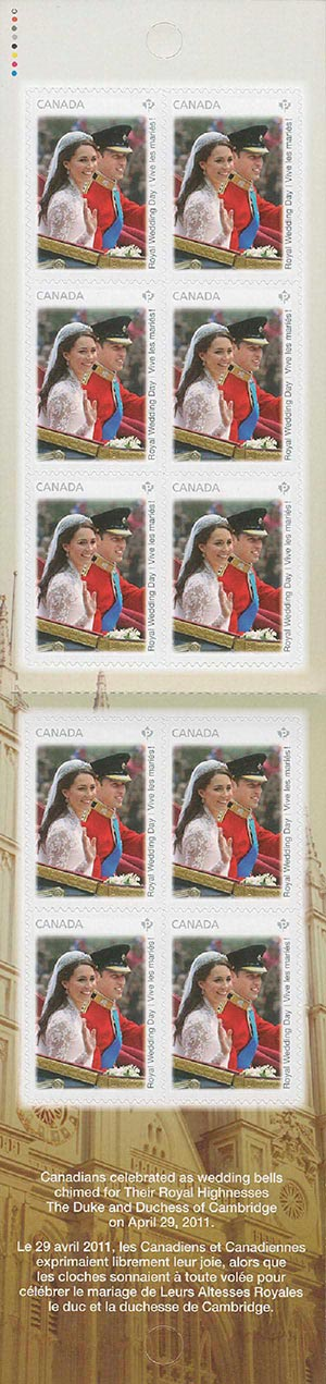 2011 Canada Royal Wedding Booklet of 10