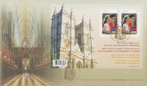 2011 Royal Wedding FDC-Abey