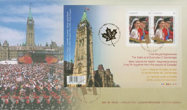 2011 Royal Wedding FDC-Parliament
