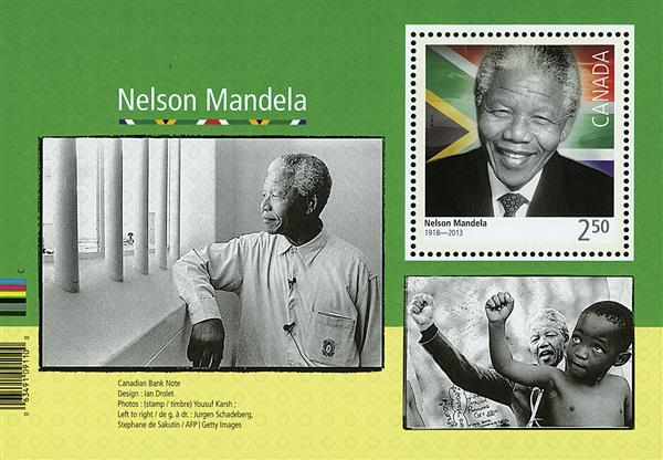 2015 $2.50 Nelson Mandela S/S