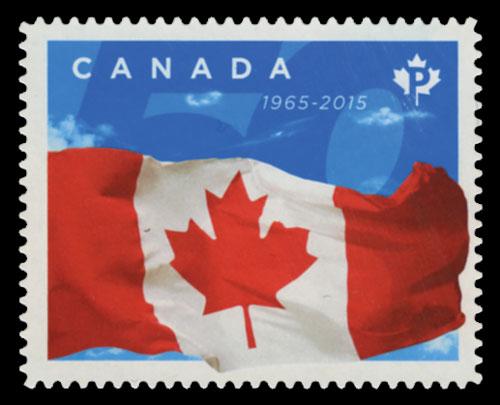 2015 P Canadian Flag 50th single