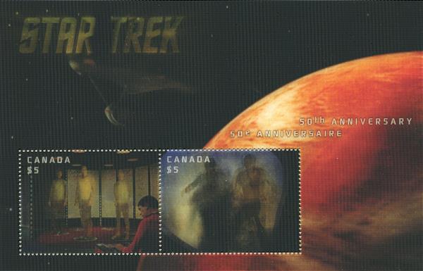 Item #M11674 – Star Trek hologram souvenir sheet.