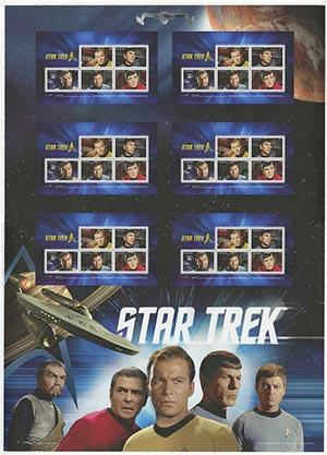 Item #M11677 – 2016 Star Trek uncut press sheet.