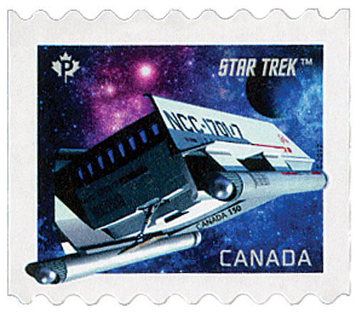 2017 Star Trek:Year II single coil stamp