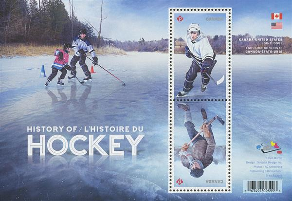 2017 $1.70 History of Hockey souvenir sheet of 2