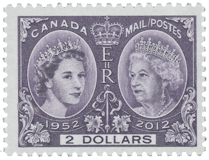 2012 Queen Elizabeth II Diamond Jubilee single stamp
