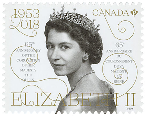 2018 Queen Elizabeth II 65th Anniversary of her Coronation booklet single stamp