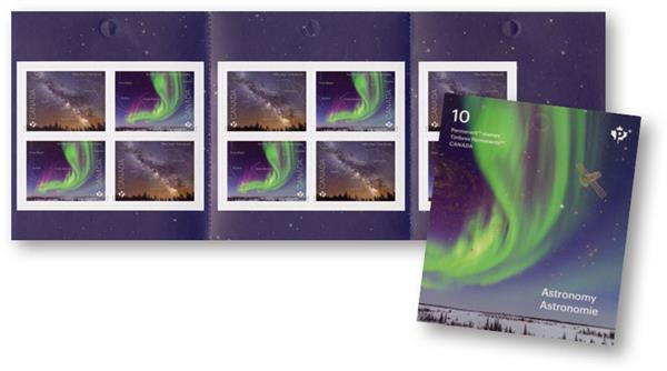2018 The Milky Way and Northern Lights, Astronomy booklet of 10 stamps