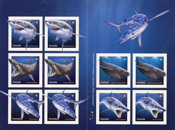 2018 Sharks booklet of 10 stamps