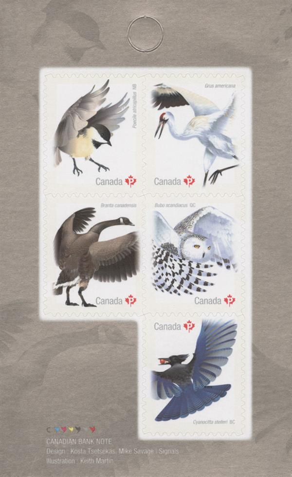 2018 Birds of Canada booklet pane of 5