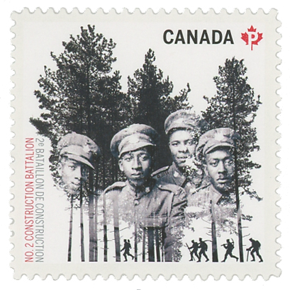2016 No. 2 Construction Battalion single stamp from booklet