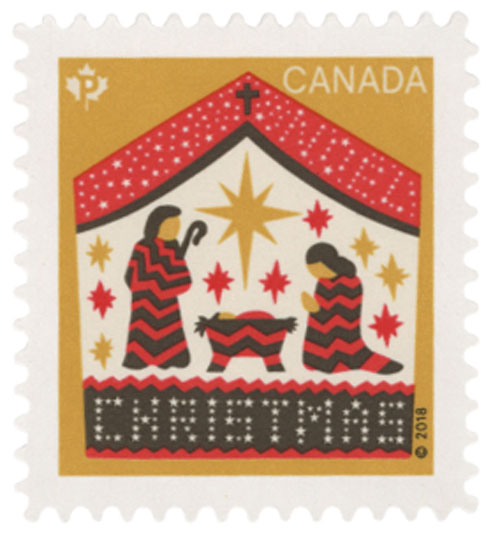 2018 Away in a Manger - Nativity, Booklet Single, Mint, Canada