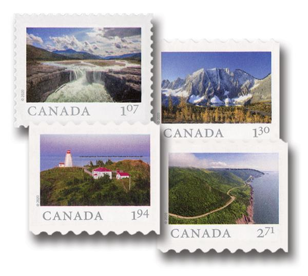 """2020 """"From Far and Wide, Mint, Set of 4 Stamps, Canada"""