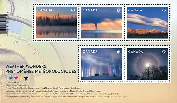 2018 Weather Wonders, Mint Ssouvenir Sheet, Canada